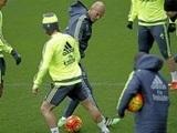 Zidane demostró su clase en el rondo de entrenamiento del Madrid