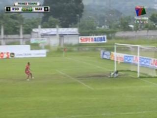 Rony Martínez falla penal y se mantiene el marcador 1 - 0 entre Real Sociedad y Marathón