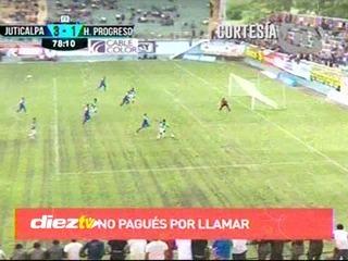 José García marca el 3-1 de Juticalpa ante Honduras Progreso Fin de la conversación