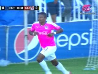 Carlo Costly de cabeza anota el 1 -0 ante Motagua