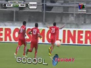 Elkin Gonzáles de penal marca el 2 - 0 ante Marathón