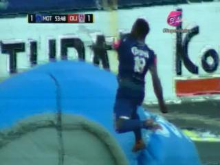 Wilmer Crisanto pone el 1-0 ante Olimpia desde el punto penal