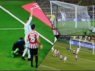 El delantero del Real Madrid levantó sus brazos y observó al línea mientras Morata anotaba el gol.