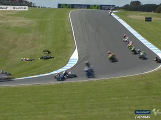 Impactante accidente en el Moto3 que casi termina en tragedia