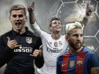 Así juegan los 5 grandes candidatos al Balón de Oro. ¿Cuál es tu favorito?