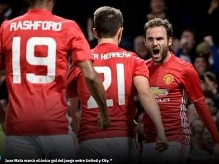 El Manchester United de Mourinho echa de la Copa al City de Guardiola