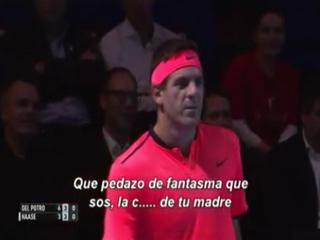 El enojo del tenista Juan Martín del Potro por las actitudes de su rival Robin Haase