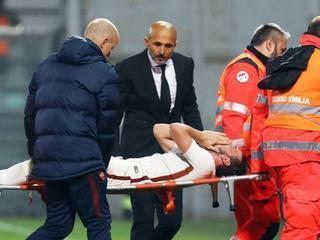 Florenzi quebrantó en llanto tras lesionarse