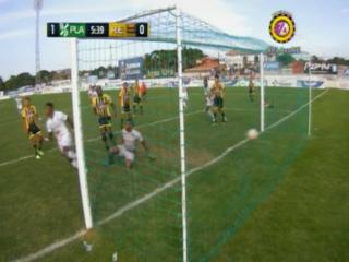 Richard Dixón marca el 1-0 ante Real España
