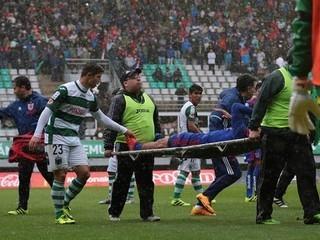 Escalofriante: Jugador le rompe a otro la pierna derecha en Chile