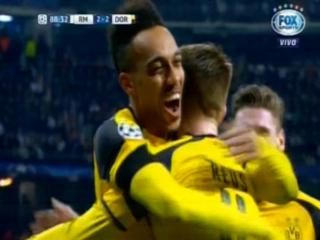 Marco Reus anota el 1 - 2 del Borussia Dortmund ante el Real Madrid