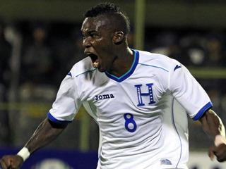 Rubilio Castillo marca el 1-1 para Honduras contra El Salvador