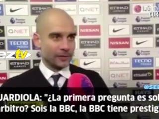 El enojo de Pep Guardiola con un reportero de la BBC por una pregunta
