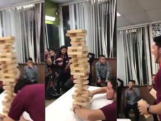 Viral: la increíble jugada de Jenga