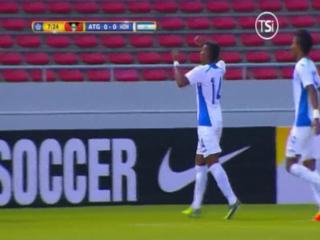 GOOL DE HONDURAS! Al minuto 7 Sendel Cruz centra y un defensor la manda adentro para el 1-0 ante Antigua