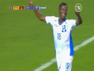 GOOOOL DE HONDURAS! Al minuto 59 Darixon Vuelto le marca el 3-1 a Antigua