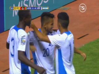 GOOOOL DE HONDURAS! Al minuto 82 Jorge Alvarez hace el 4-1 ante Antigua
