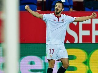 El gol de Pablo Sarabia que tiene ganando al Sevilla frente al Leicester City en la UEFA Champions League