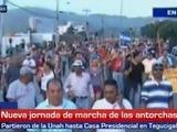 Vuelven la marcha de las antorchas en Tegucigalpa