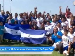 Afición hondureña en Dallas luce optimista para la Copa Oro