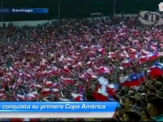 Chile conquista su primera Copa América