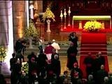 El papa culmina jornada en catedral de Quito