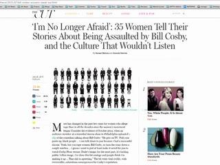 Revista New York da voz a presuntas víctimas de Cosby