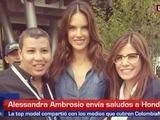 Alessandra Ambrosio envía saludos a LA PRENSA