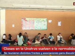 Clases vuelven a la normalidad en Unah-vs