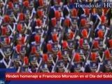 Rinden honor a Francisco Morazán en el Día del Soldado
