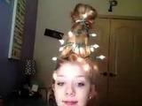 El peinado más original para lucir en Navidad