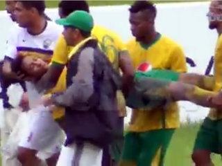 Portero agrede a jugador y lo envía al hospital en Honduras