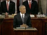 Obama trata de dibujar el