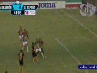 Marathón 1-0 Real España