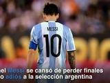 Messi dice adiós a la selección argentina