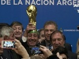 Argentina homenajea a sus campeones de México