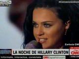 Katy Perry sube al escenario en el último día de la Convención Nacional Demócrata