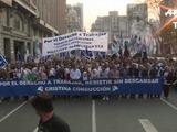 Inicia marcha opositora en Argentina que reclama empleos