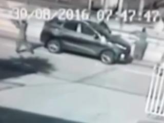 Video muestra secuestro o robo en Tegucigalpa