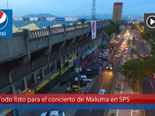 Todo listo para el concierto de Maluma en San Pedro Sula
