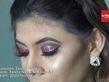 Maquillaje con glitter para la noche