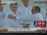 Histórica firma de la paz en Colombia