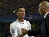 Cristiano Ronaldo celebró su gol con Zidane