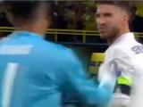 Sergio Ramos y Cristiano Ronaldo recriminaron a Keylor Navas su error