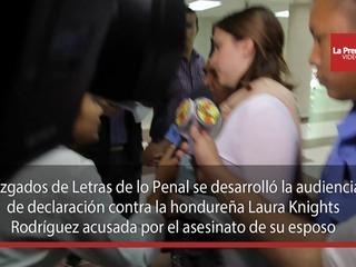 Dictan detención judicial a hondureña acusada de matar a su esposo