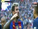 Messi insulta a afición del Valencia tras un botellazo a Neymar