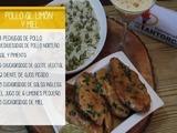 Pollo al limón y miel