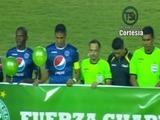 Emotivos homenajes al Chapecoense en las semifinales de Honduras