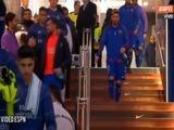 Saludo entre Messi y Cristiano Ronaldo