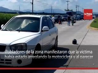 Motociclista muere atropellado en San Manuel